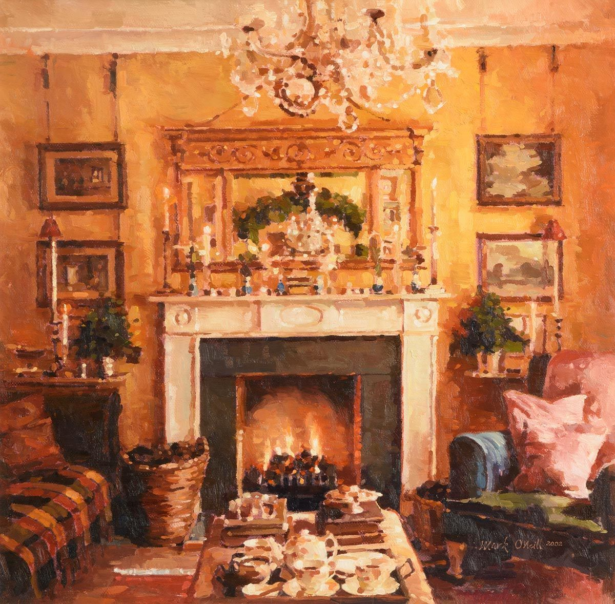 Mark O'Neill, Festive Drawing Room (2002) at Morgan O'Driscoll Art Auctions