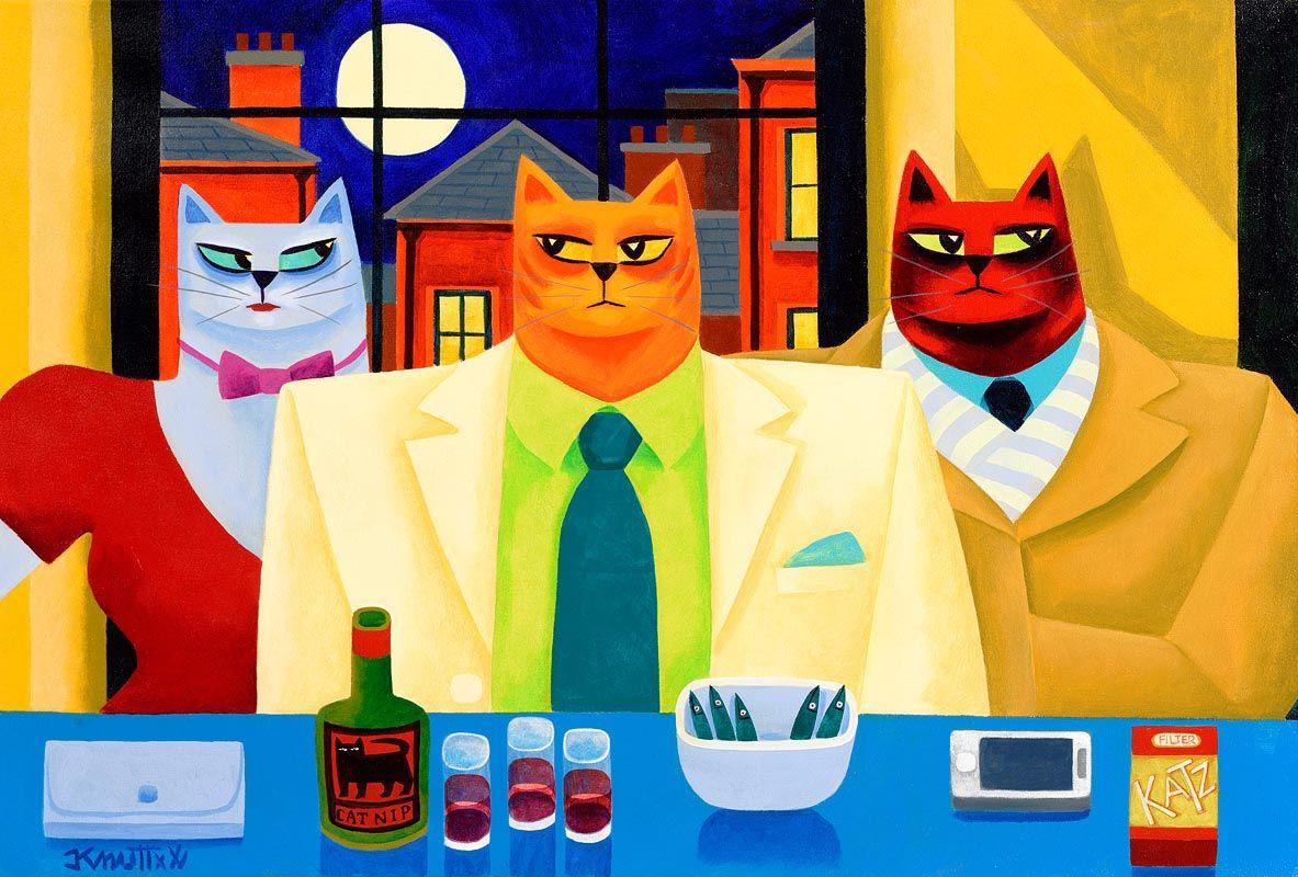 Graham Knuttel, Cat Nip at Morgan O'Driscoll Art Auctions