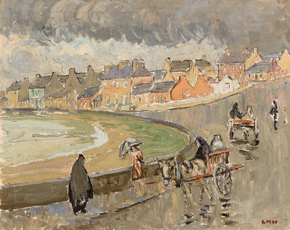 Letitia Marion Hamilton, Rain at Kilkee. Co. Clare (1948) at Morgan O'Driscoll Art Auctions