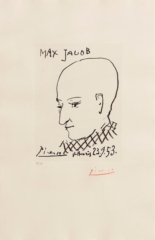 Pablo Picasso, Portrait of Max Jacob (1953) at Morgan O'Driscoll Art Auctions