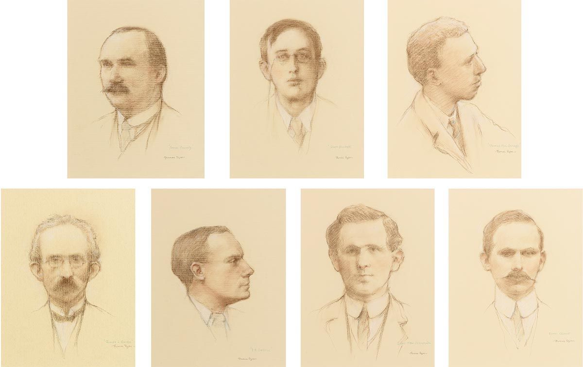 Thomas Ryan, Portraits of the1916 Rising Leaders at Morgan O'Driscoll Art Auctions