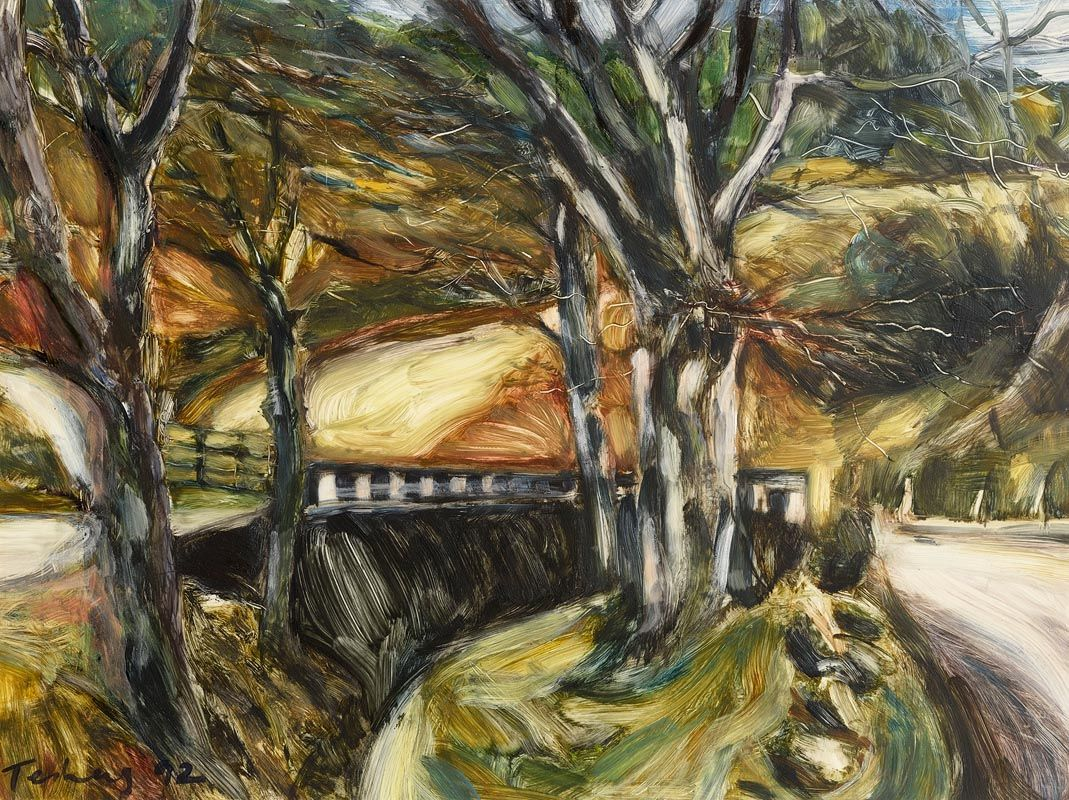 Donald Teskey, Wooded Landscape (1992) at Morgan O'Driscoll Art Auctions