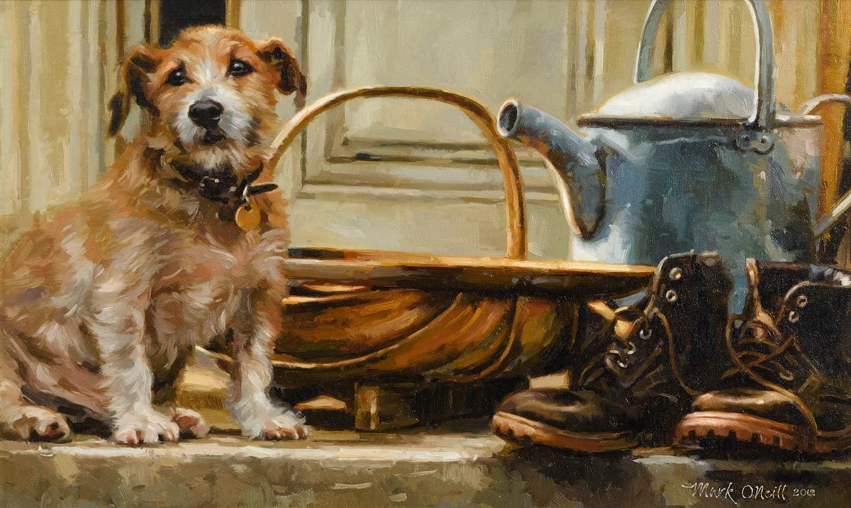 Mark O'Neill, Jake and the Watering Can (2012) at Morgan O'Driscoll Art Auctions