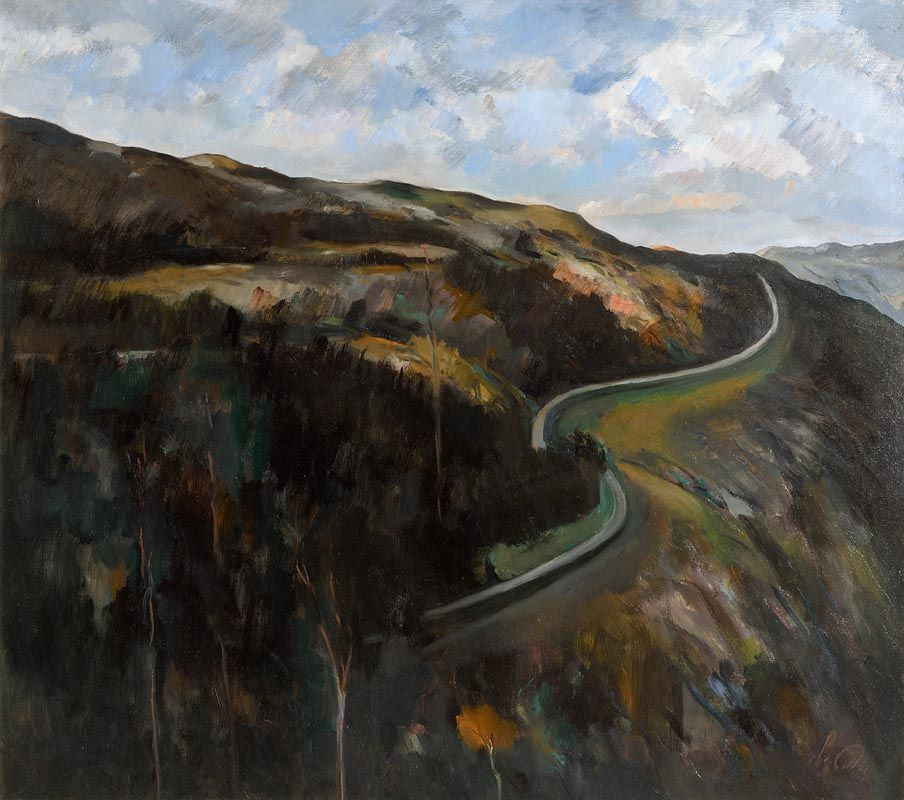 Peter Collis, The Road Above Lough Tay, Roundwood, Co. Wicklow at Morgan O'Driscoll Art Auctions