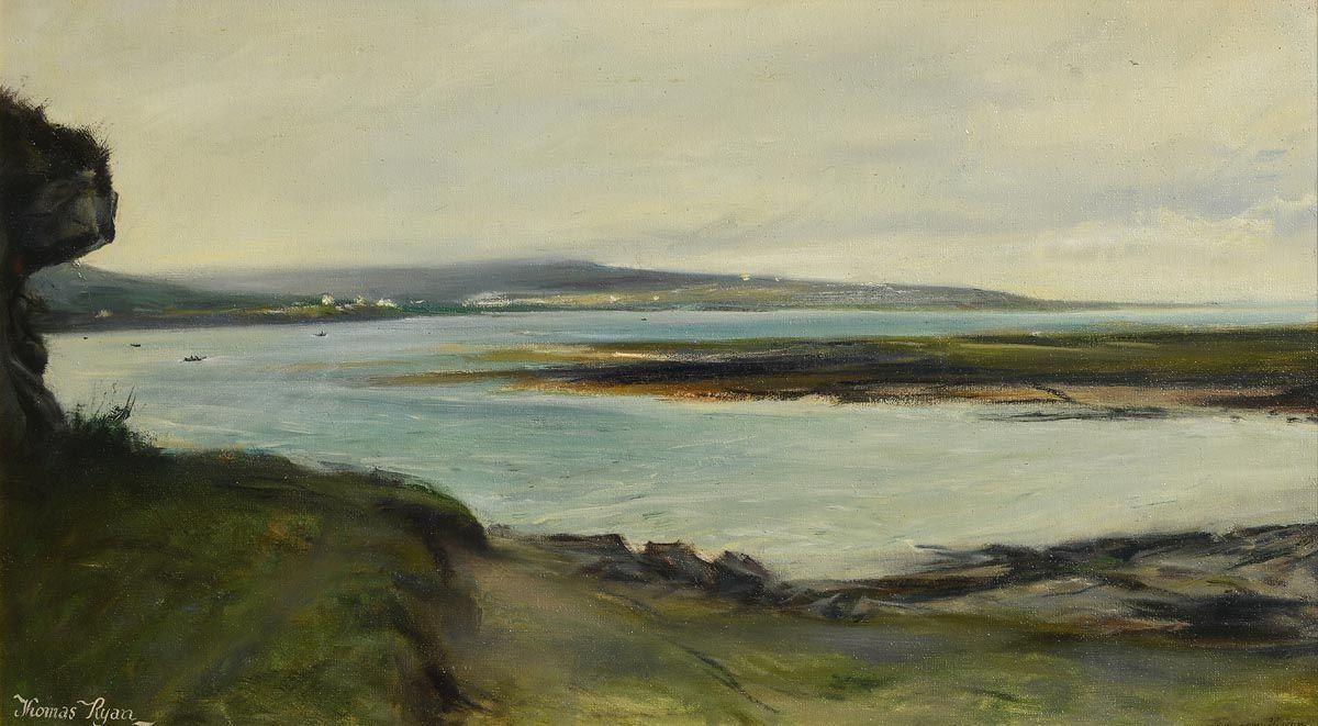 Thomas Ryan, Looking towards Killeany, Aran (1972) at Morgan O'Driscoll Art Auctions