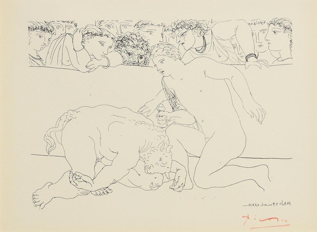 Pablo Picasso, Suite Vollard (1952) at Morgan O'Driscoll Art Auctions