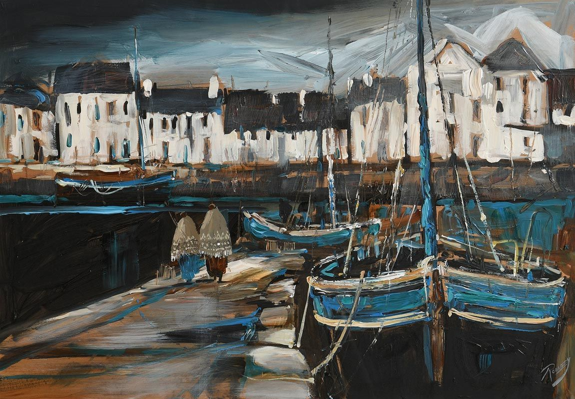 J.P. Rooney, The Claddagh Basin at Morgan O'Driscoll Art Auctions
