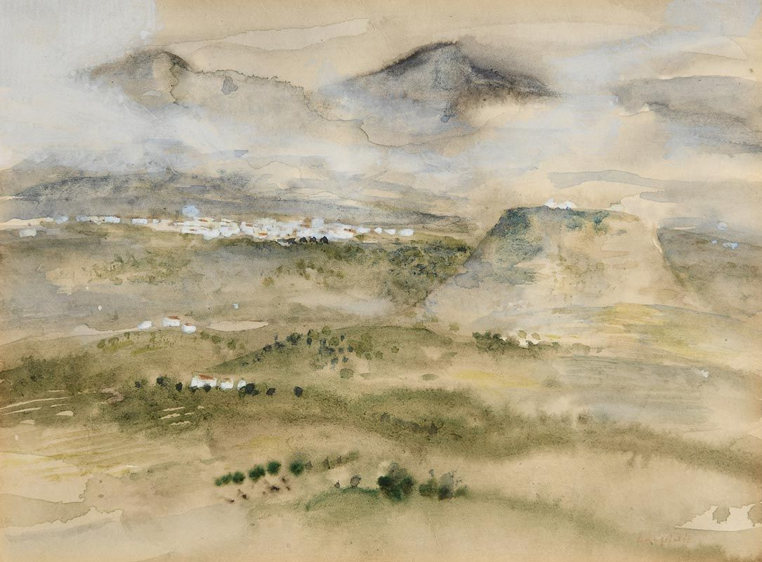 George Campbell, Spanish Village at Morgan O'Driscoll Art Auctions