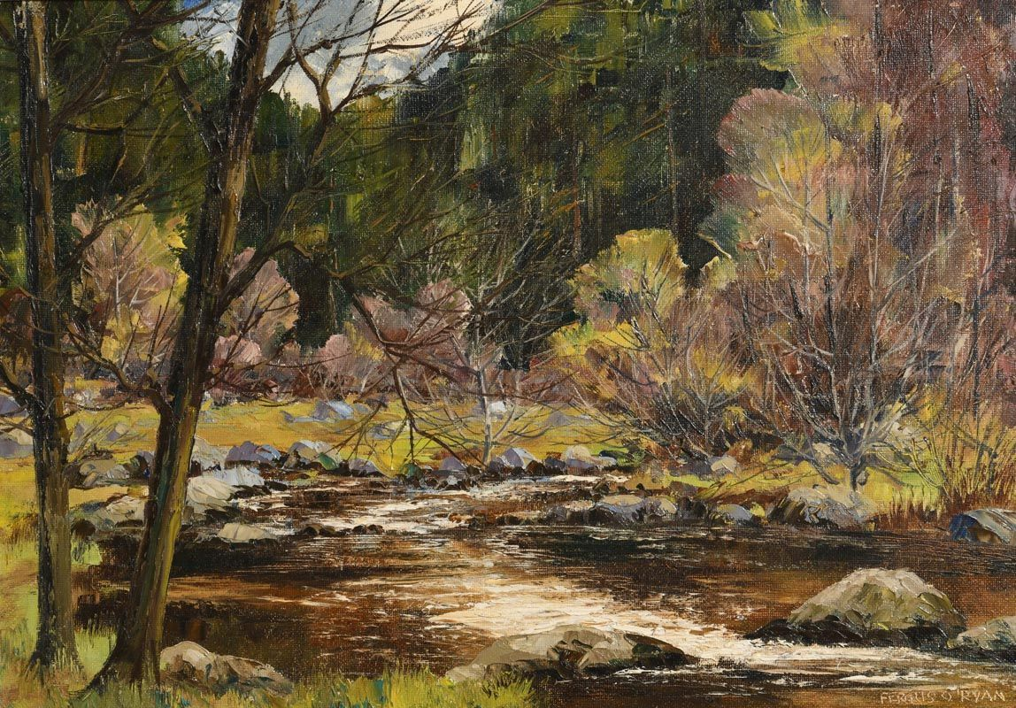 Fergus O'Ryan, Brown Pool at Morgan O'Driscoll Art Auctions