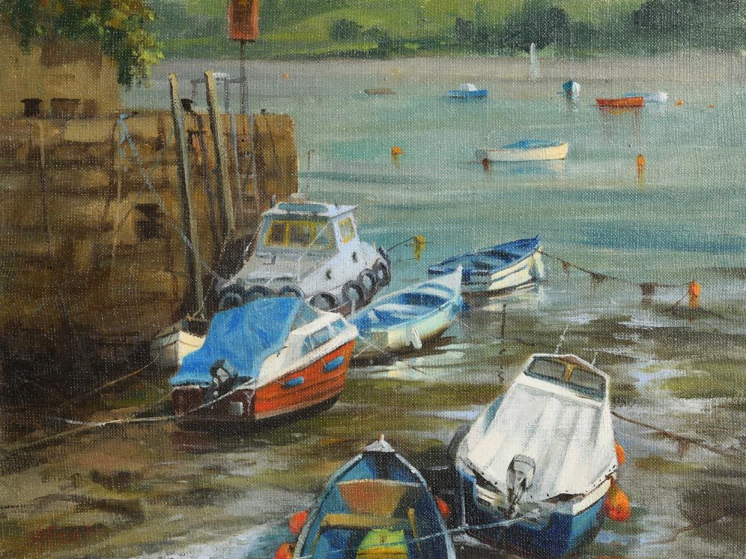 Annemarie Bourke, Resting in Youghal at Morgan O'Driscoll Art Auctions