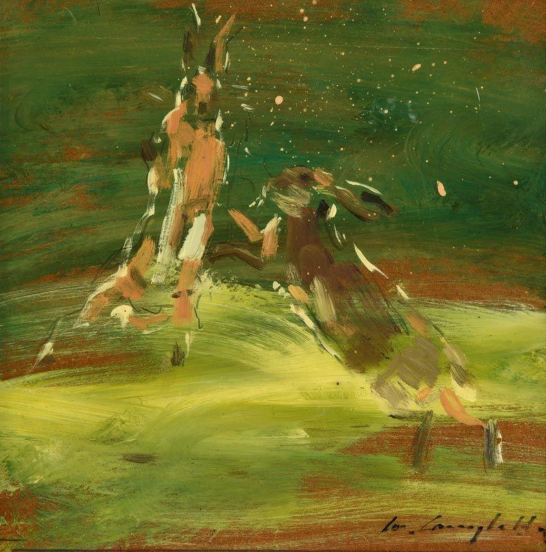 Con Campbell, Hares Boxing at Morgan O'Driscoll Art Auctions
