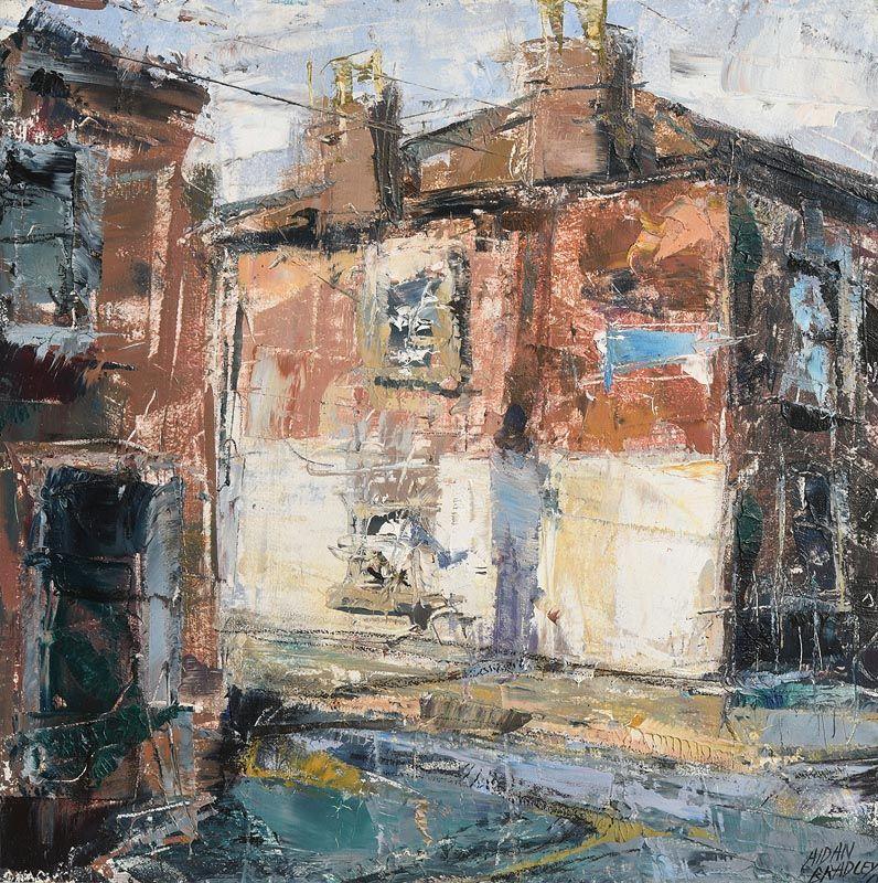 Aidan Bradley, End of Terrace (2013) at Morgan O'Driscoll Art Auctions