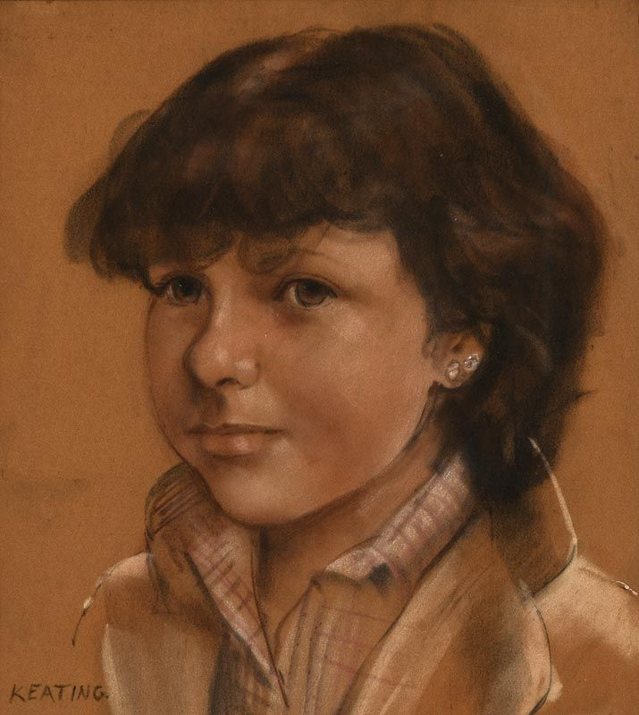 Sean Keating, Portrait of a Young Lady at Morgan O'Driscoll Art Auctions