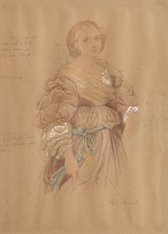 Sir Frederick William Burton, Sketch for a Costume at Morgan O'Driscoll Art Auctions