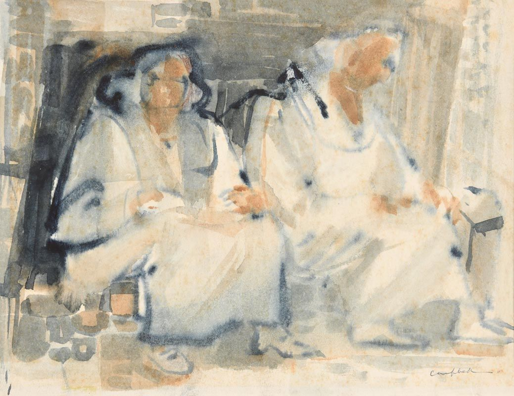 George Campbell, Water Sellers at Morgan O'Driscoll Art Auctions