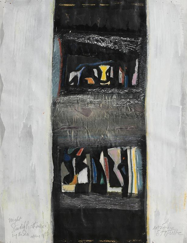 Tony O'Malley, Night Studio by the Sea Porthmeor (1982) at Morgan O'Driscoll Art Auctions