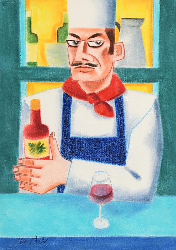 Graham Knuttel, Wine or Sauce at Morgan O'Driscoll Art Auctions