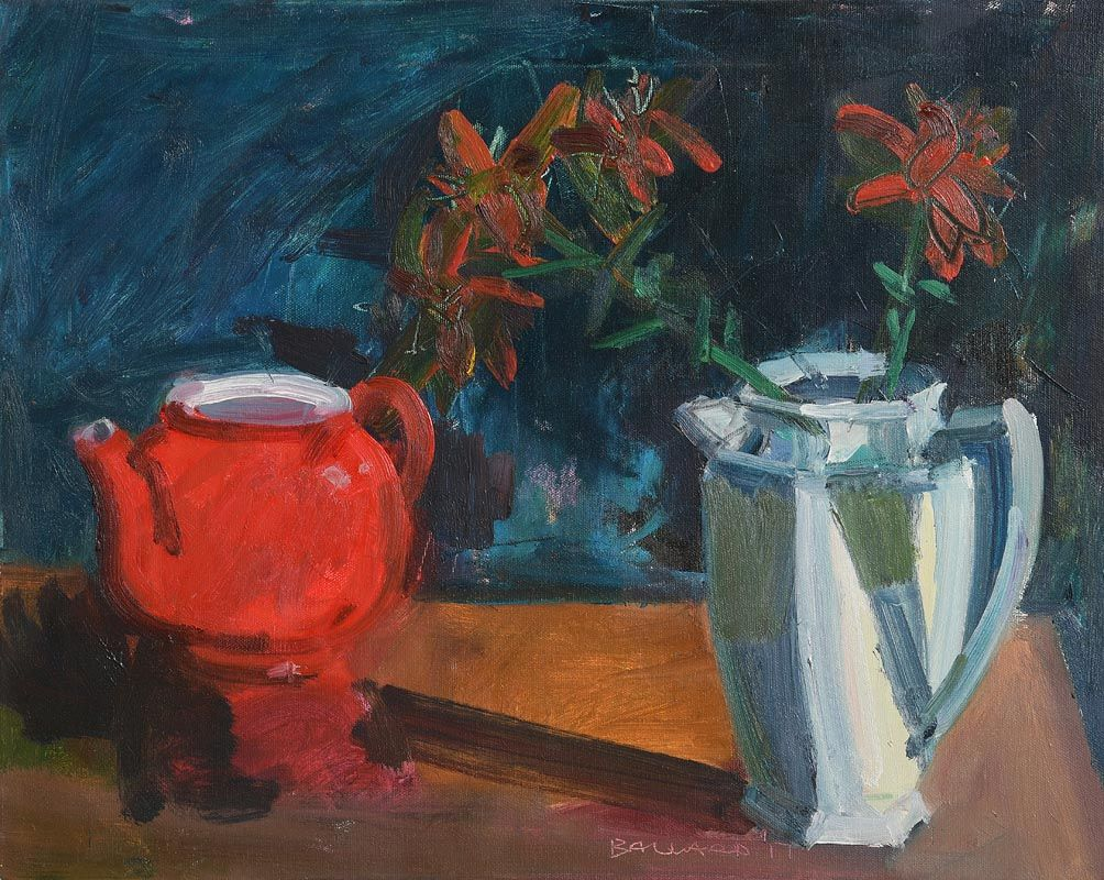 Brian Ballard, Red Teapot (2017) at Morgan O'Driscoll Art Auctions