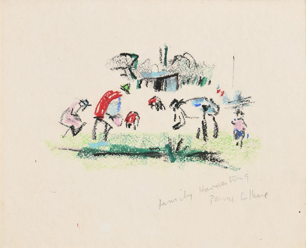 Patrick Collins, Family Harvesting (1972) at Morgan O'Driscoll Art Auctions