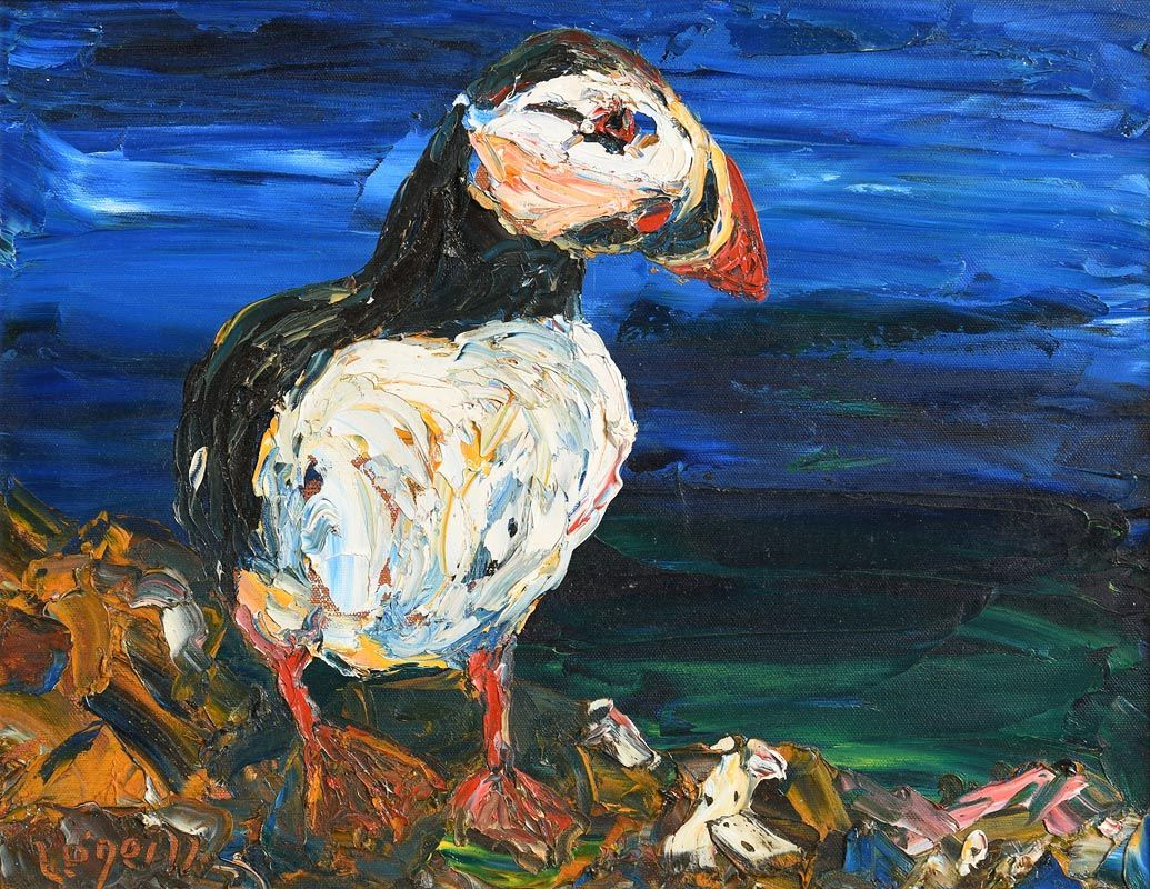 Liam O'Neill, The Puffin at Morgan O'Driscoll Art Auctions