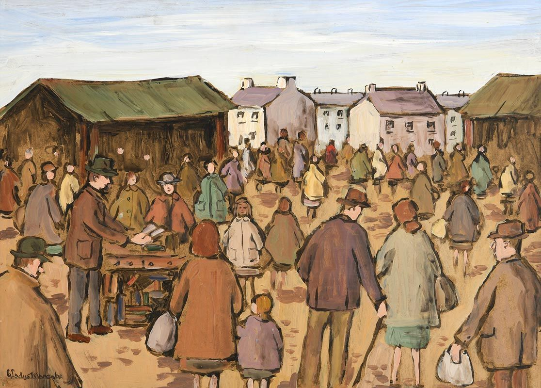 Gladys MacCabe, The Market at Morgan O'Driscoll Art Auctions