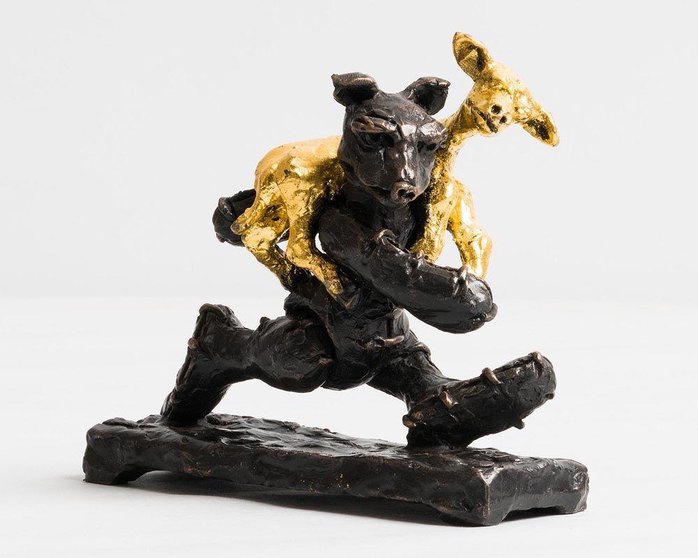 Patrick O'Reilly, Bear with Golden Lamb (2017) at Morgan O'Driscoll Art Auctions
