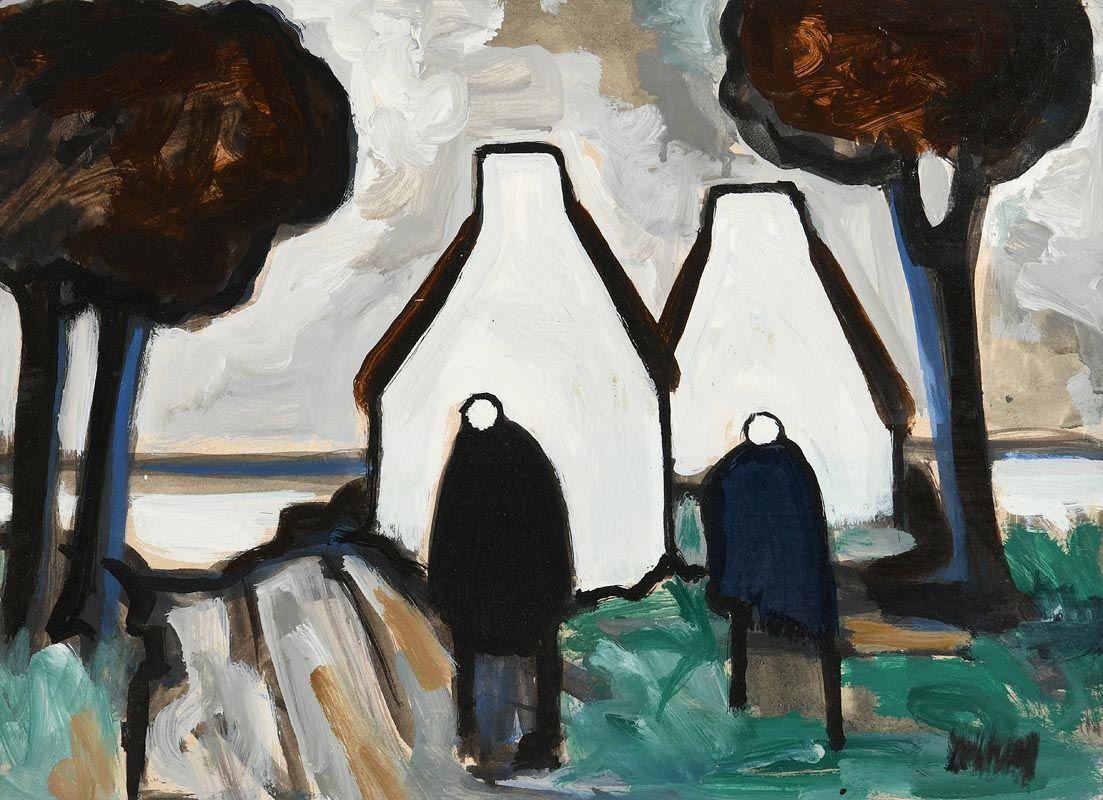 Markey Robinson, Shawlies and Gables Ends at Morgan O'Driscoll Art Auctions