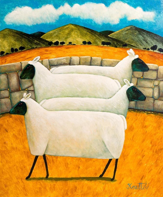 Graham Knuttel, Mountainside Sheep at Morgan O'Driscoll Art Auctions