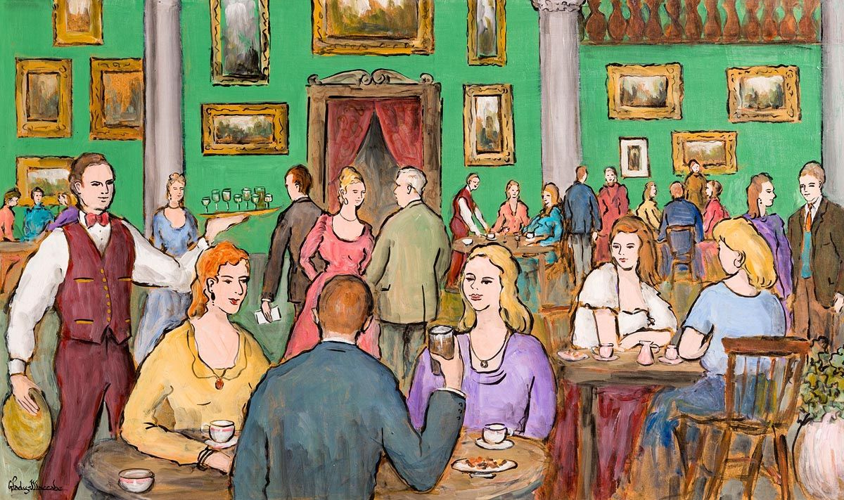Gladys MacCabe, The Green Room, Shelbourne Hotel at Morgan O'Driscoll Art Auctions