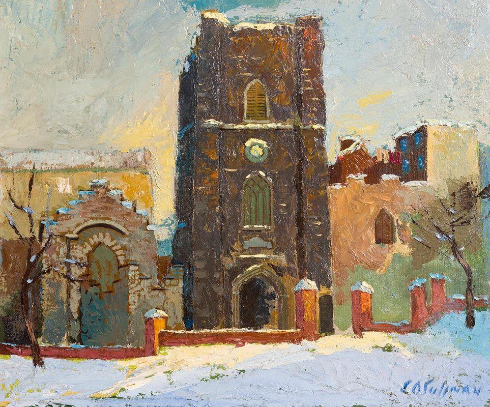 Sean O'Sullivan, St. Audeon's Under Snow at Morgan O'Driscoll Art Auctions