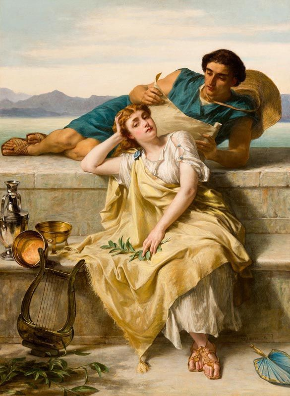 Alfred W. Elmore, A Greek Ode (1879) at Morgan O'Driscoll Art Auctions