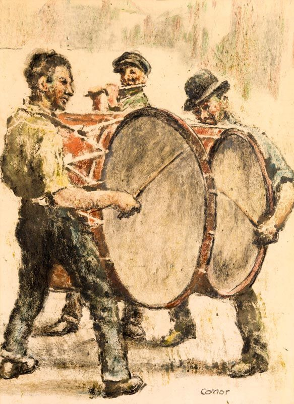William Conor, The Drummers at Morgan O'Driscoll Art Auctions