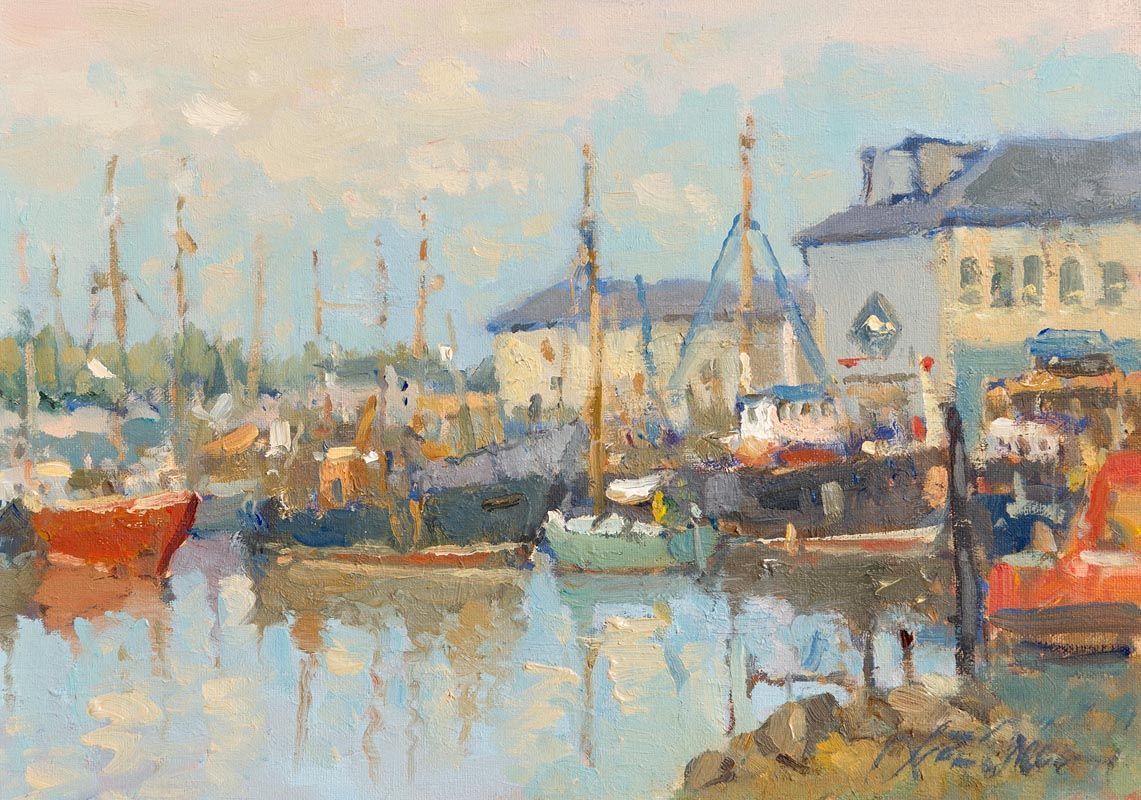 Liam Treacy, Arklow Harbour at Morgan O'Driscoll Art Auctions