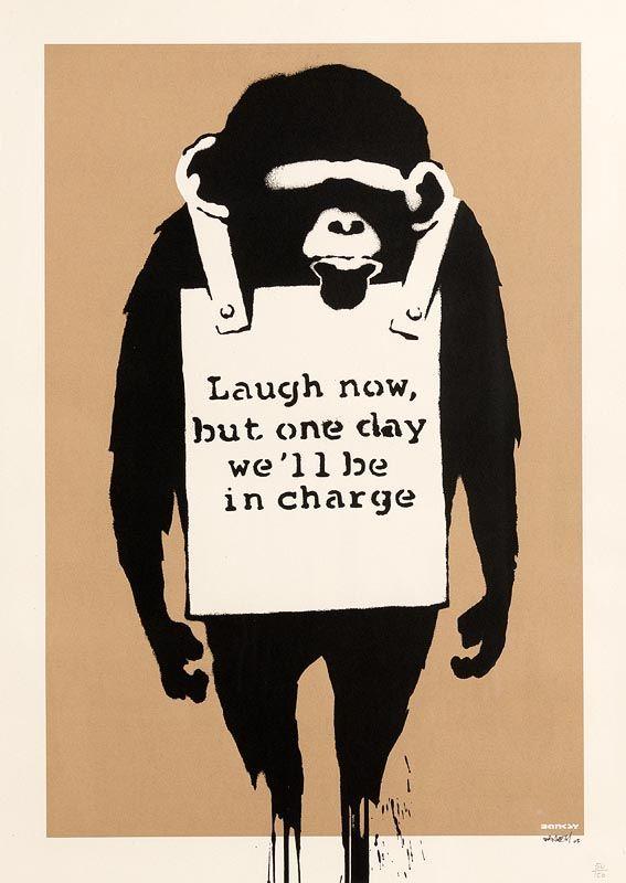 Banksy, Laugh Now 2003 at Morgan O'Driscoll Art Auctions
