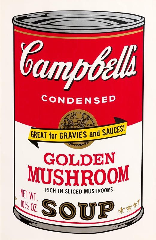 Andy Warhol, Golden Mushroom, from Campbell's Soup II, 1969 (F. & S. II.62) at Morgan O'Driscoll Art Auctions