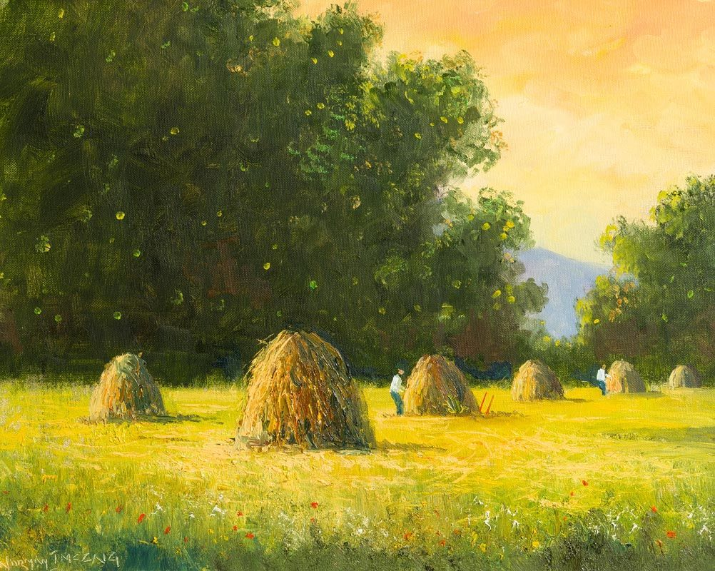 Norman J. McCaig, Haystacks, Rathmullen Co Donegal at Morgan O'Driscoll Art Auctions