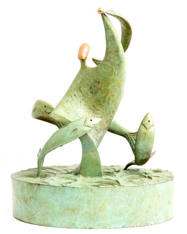 Sandra Bell, Salmon Leap (2002) at Morgan O'Driscoll Art Auctions