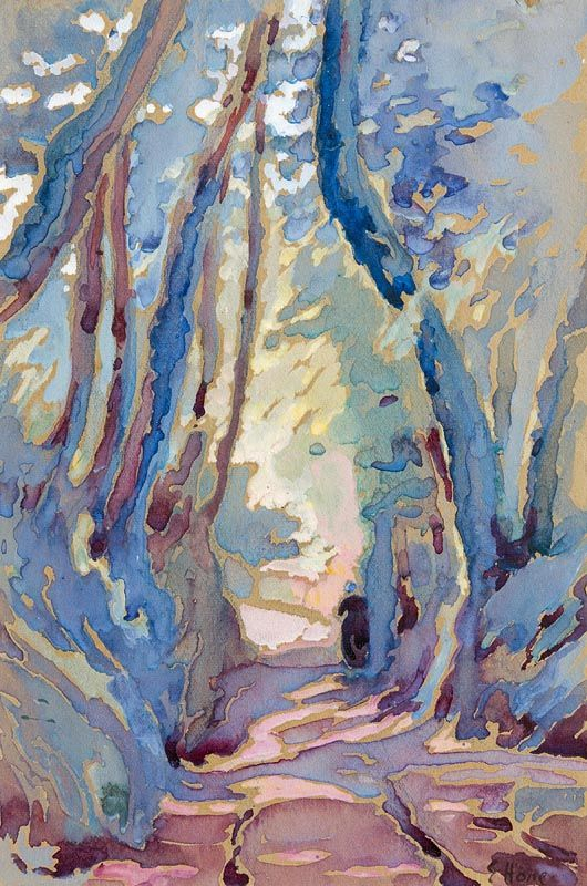 Evie Hone, Figure on a Woodland Path at Morgan O'Driscoll Art Auctions