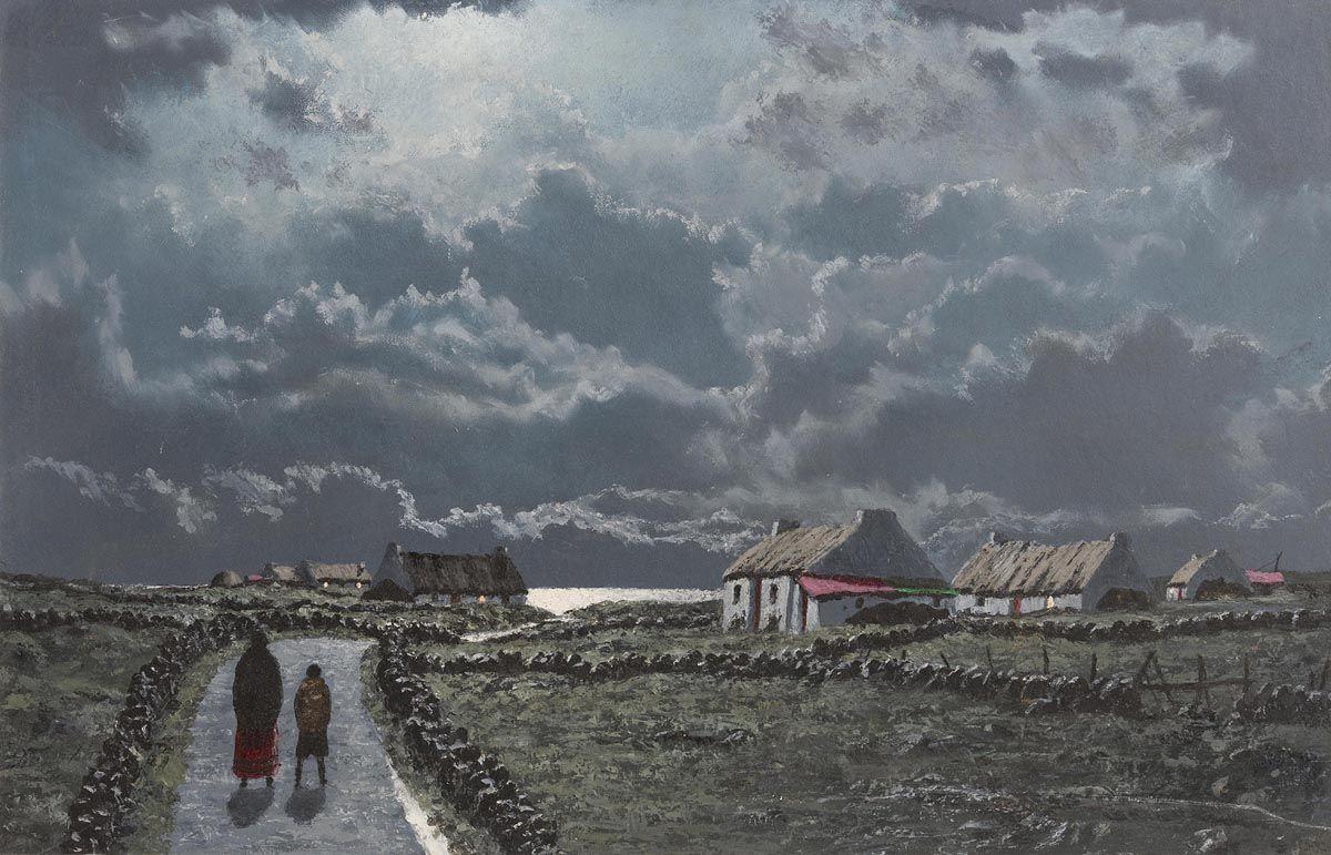 Ciaran Clear, Moonlight, Atlantic Coast at Morgan O'Driscoll Art Auctions