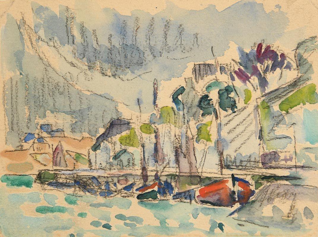 Paul Signac, St. Tropez at Morgan O'Driscoll Art Auctions