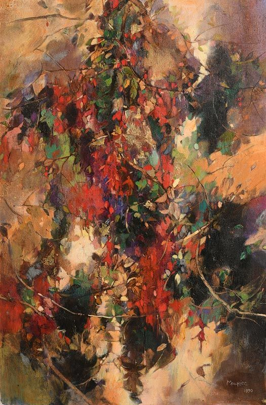 Maurice Henderson, West Cork Fuchsia (1990) at Morgan O'Driscoll Art Auctions