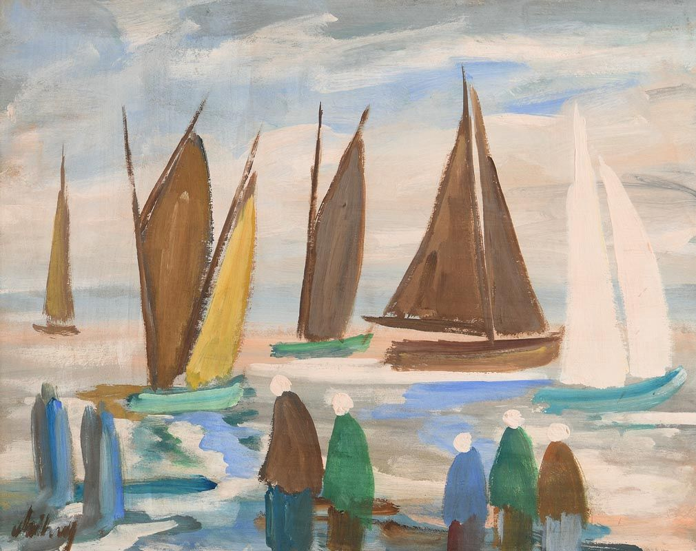 Markey Robinson, Watching the Regatta at Morgan O'Driscoll Art Auctions