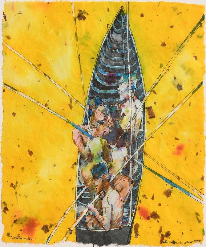Charles Harper, Boat (1990) at Morgan O'Driscoll Art Auctions