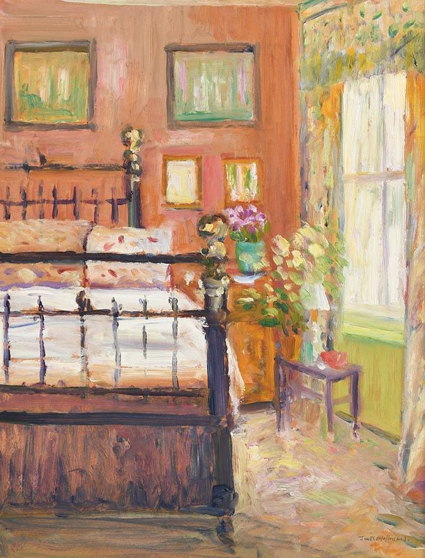 James O'Halloran, The Old Brass Bed at Morgan O'Driscoll Art Auctions