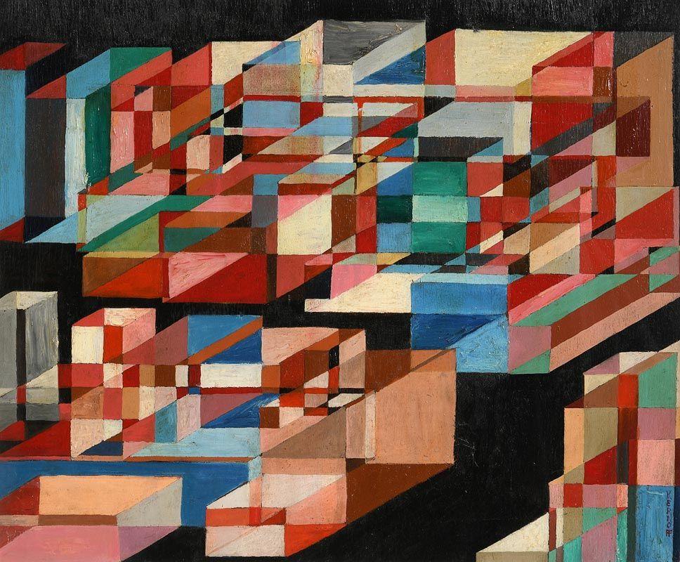 Harry Aaron Kernoff, Cubes at Morgan O'Driscoll Art Auctions