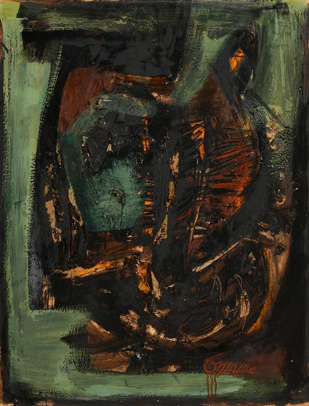 Tony O'Malley, Irish Landscape (Autumn) (1962) at Morgan O'Driscoll Art Auctions