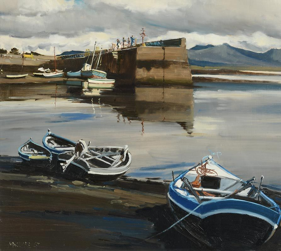Cecil Maguire, Low Water, Roundstone, Co Galway (1987) at Morgan O'Driscoll Art Auctions