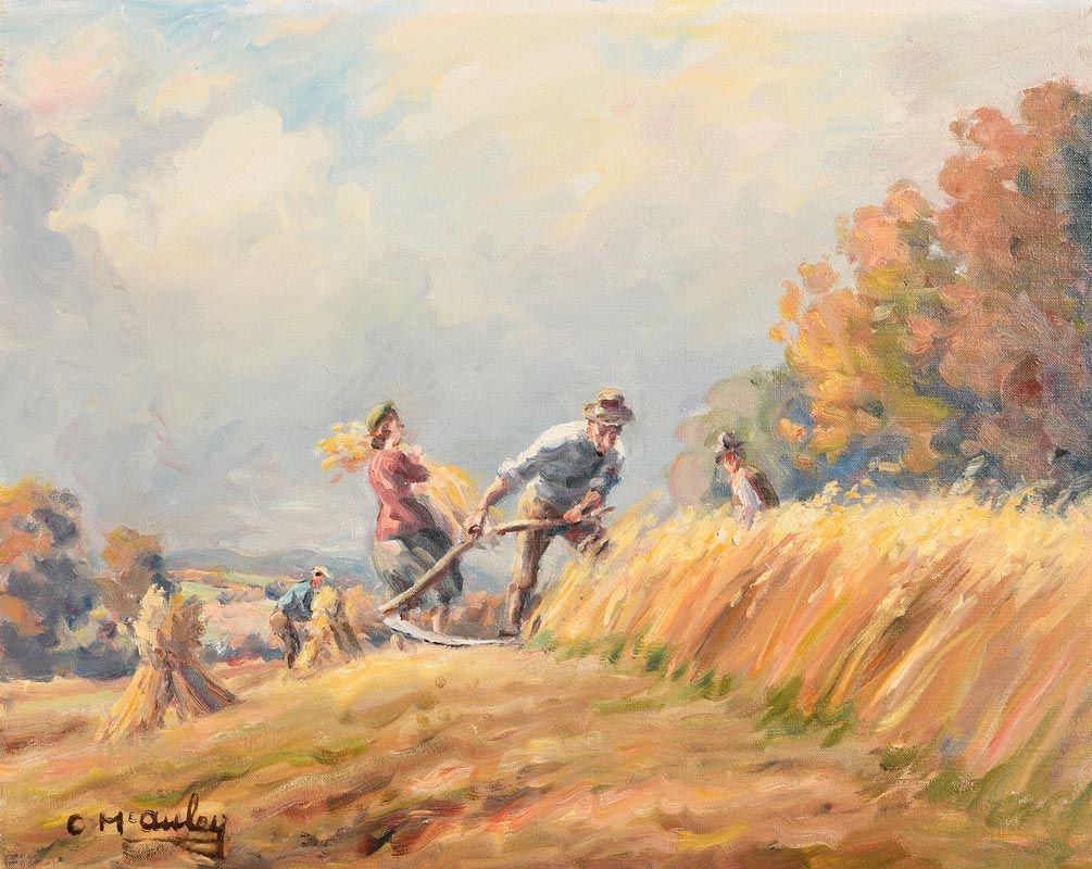 Charles J. McAuley, Harvest Time at Morgan O'Driscoll Art Auctions