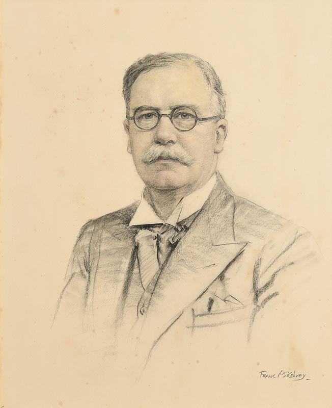 Frank McKelvey, Portrait of Sir Thomas Houston at Morgan O'Driscoll Art Auctions