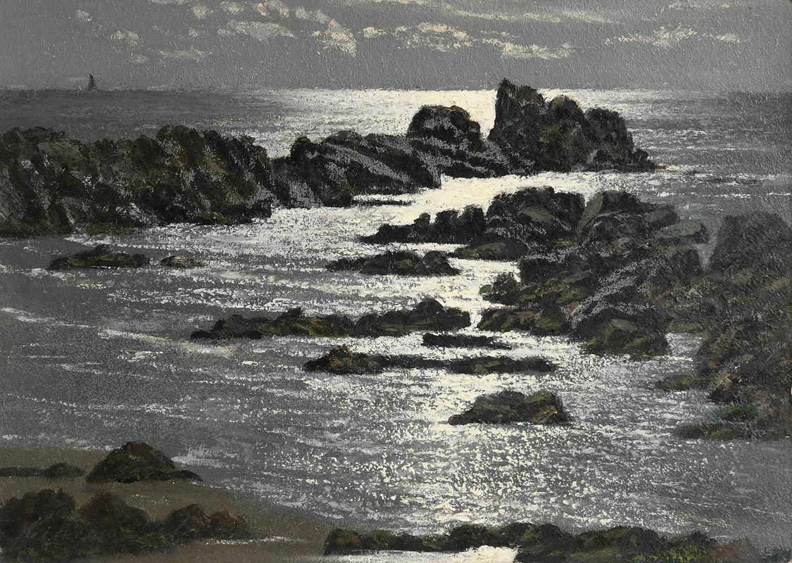 Ciaran Clear, Moonlight and Rocks at Morgan O'Driscoll Art Auctions